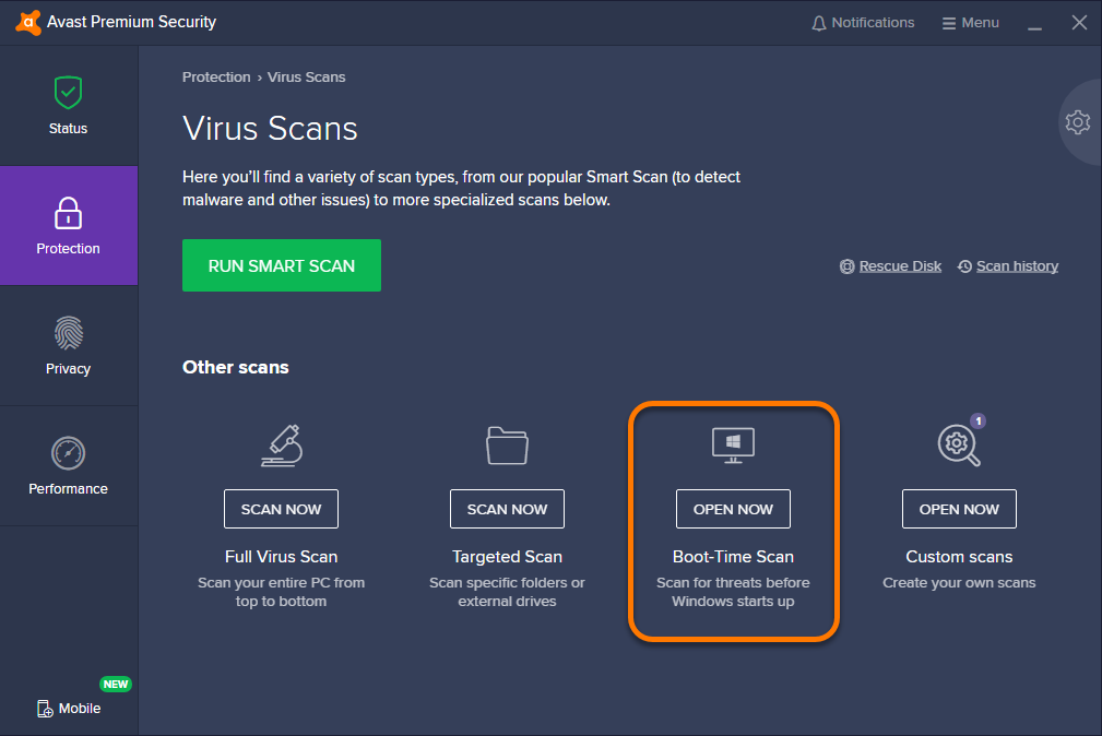 Running a Boot-time Scan in Avast Antivirus | Official Avast