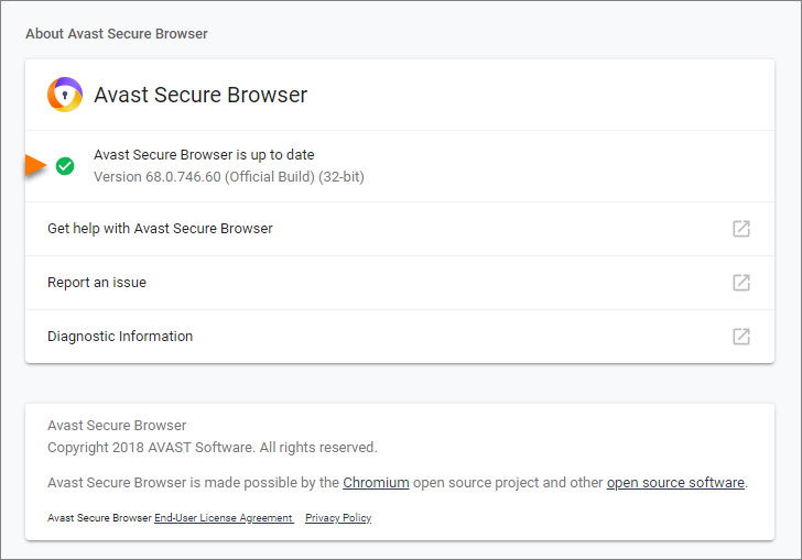 Troubleshooting update problems with Avast Secure Browser