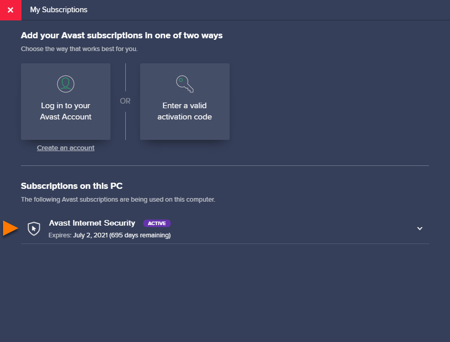 Activating Avast Internet Security | Official Avast Support