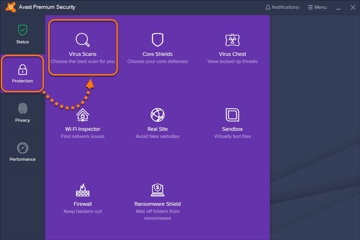 Scanning your PC for viruses with Avast Antivirus | Official