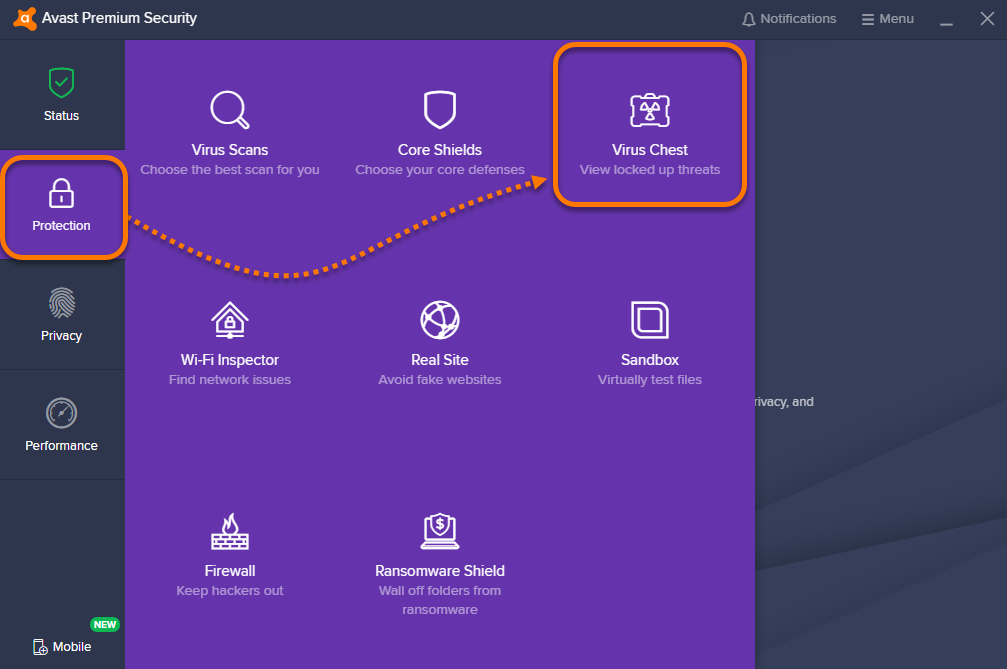 Using the Virus Chest in Avast Antivirus | Official Avast