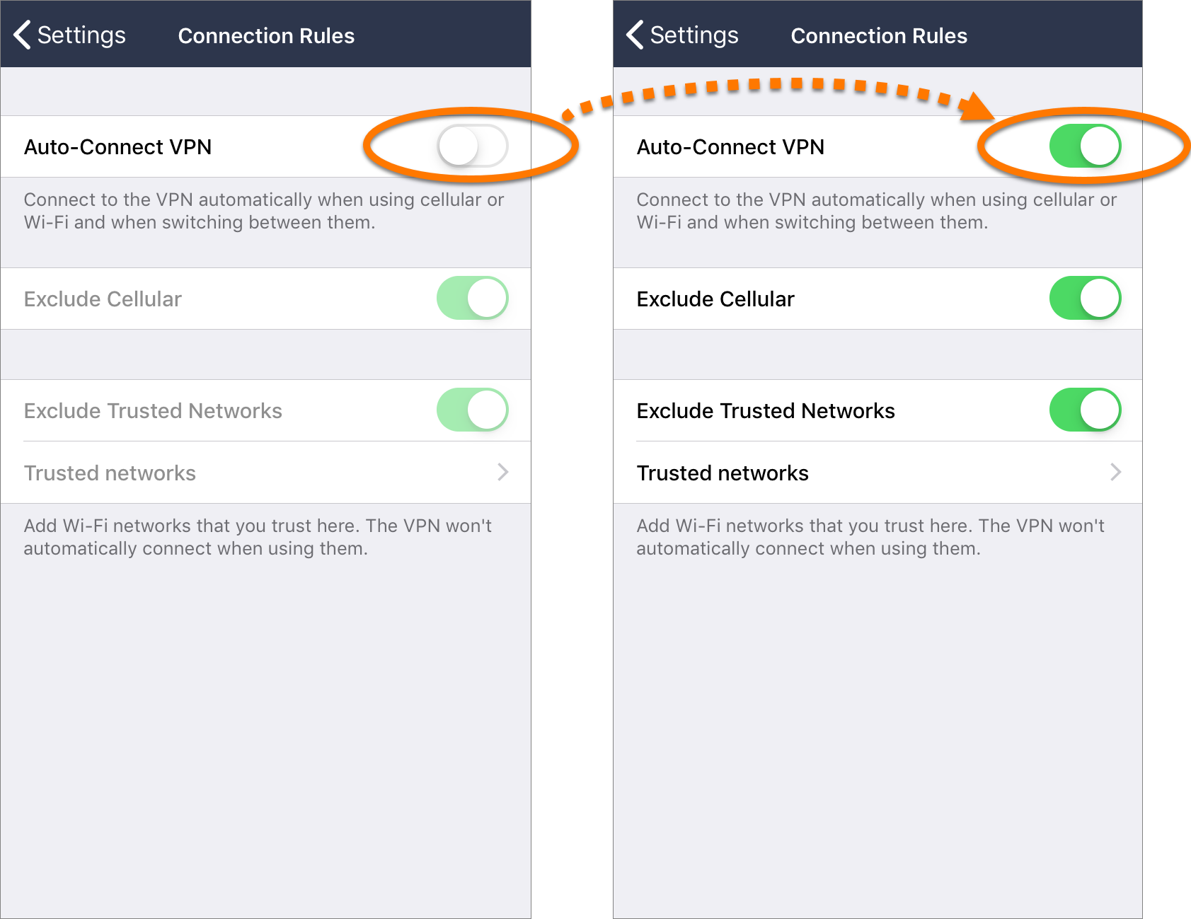 Automatically enabling Avast SecureLine VPN when connected to an