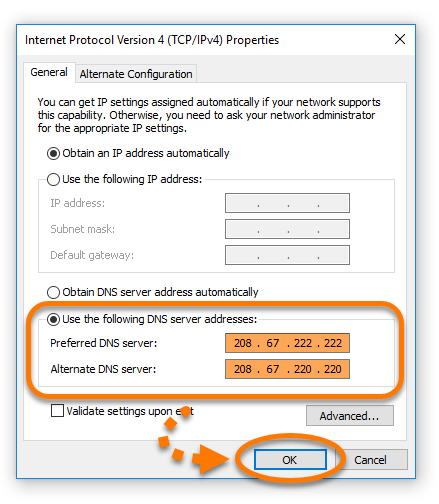 Changing your DNS settings to troubleshoot issues with Avast