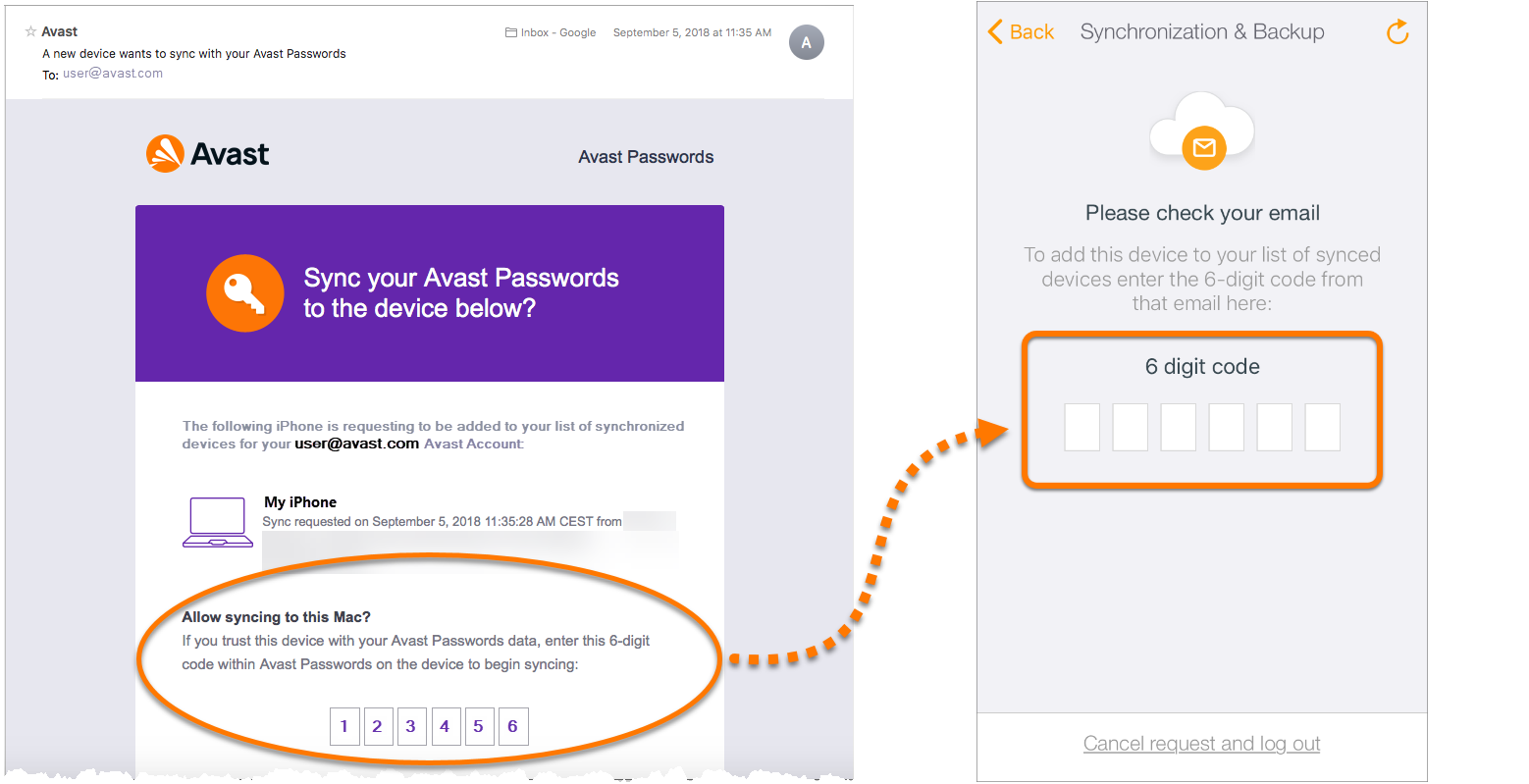 Synchronizing Avast Passwords data across your devices