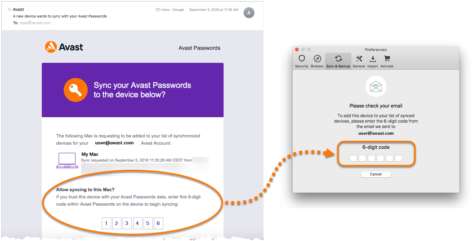 avast sync passwords
