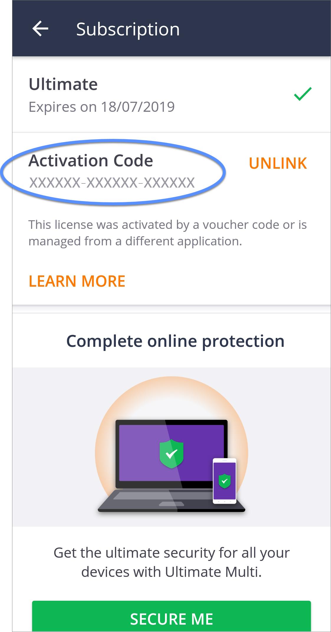 code avast iphone