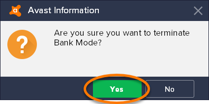 what happened to avast bank mode