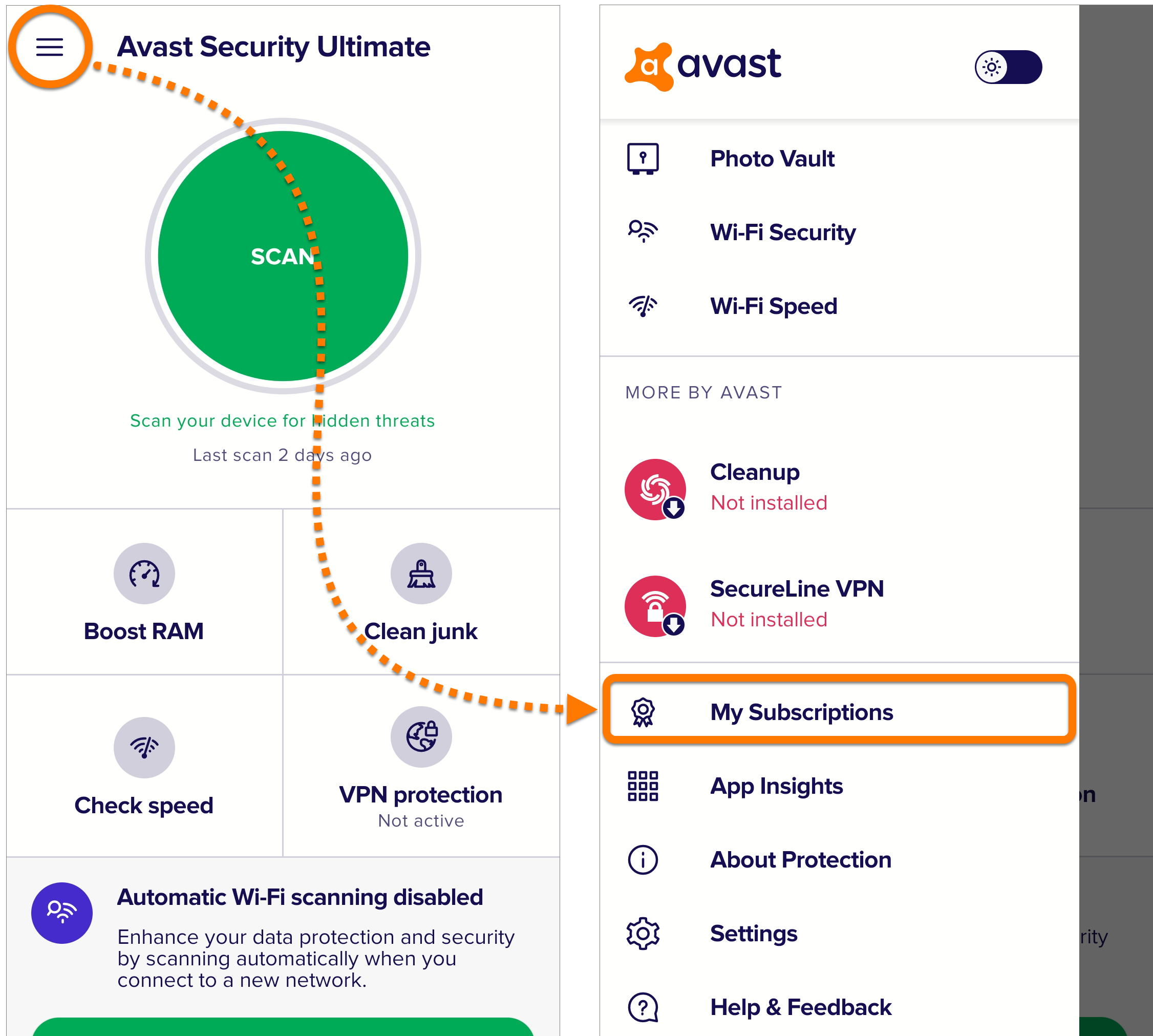 Activating a paid version of Avast Mobile Security on ...