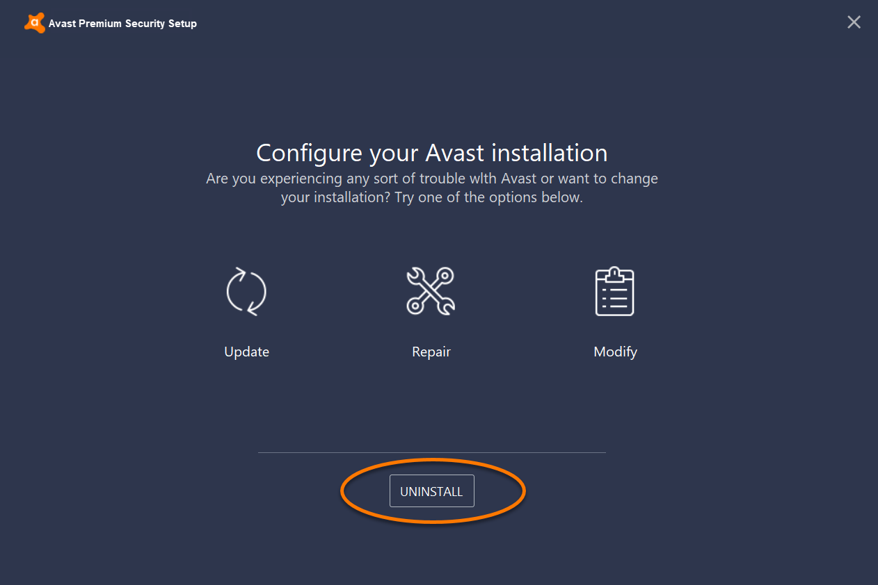 desinstalar avast free antivirus windows 10